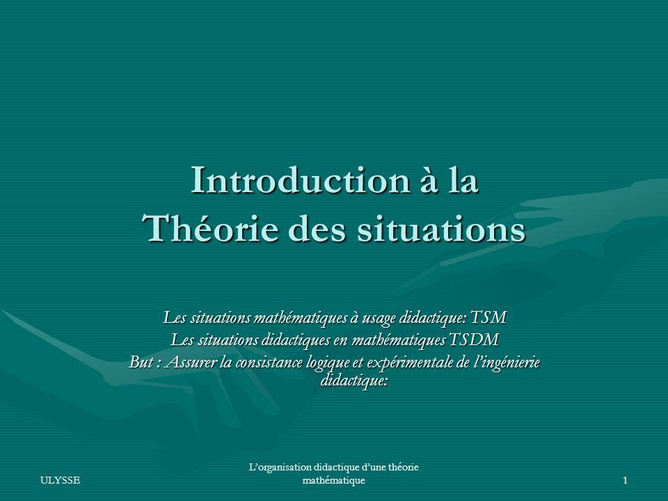 Introduction à la Théorie des situations