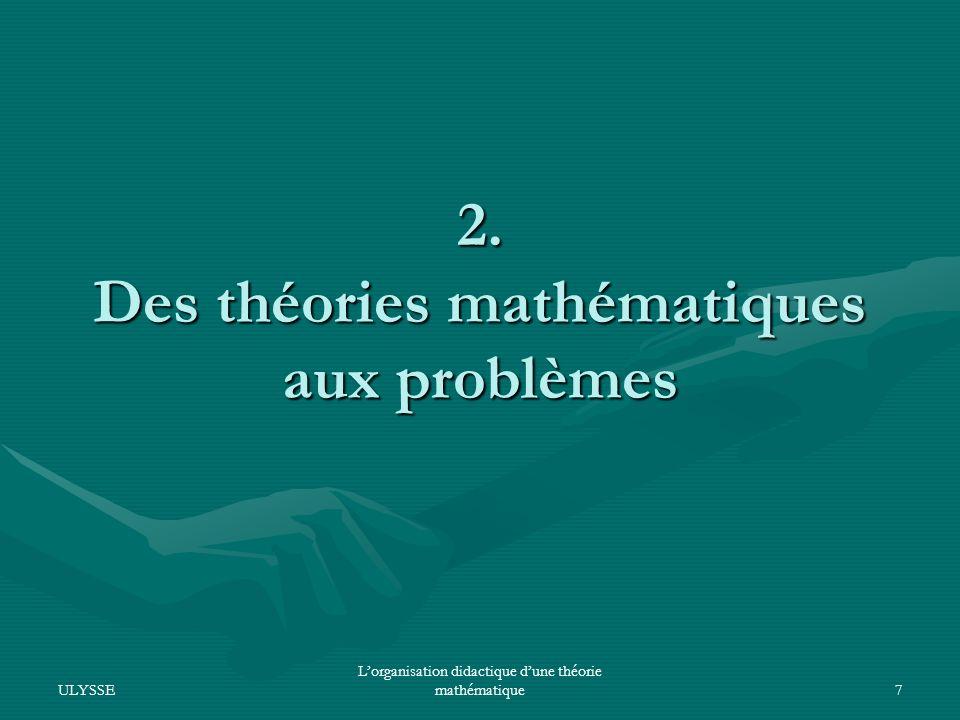 2. Des théories mathématiques aux problèmes