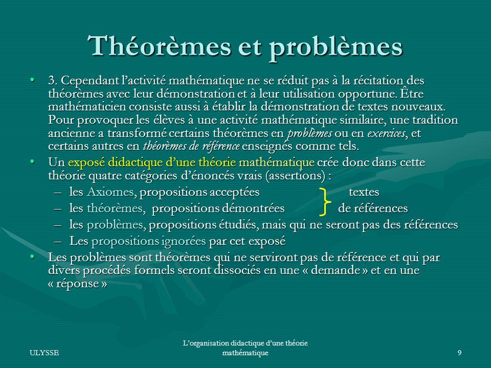 Théorèmes et problèmes