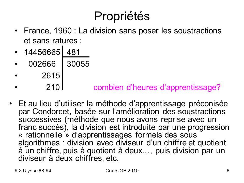 Propriétés France, 1960 : La division sans poser les soustractions et sans ratures : 14456665 481.