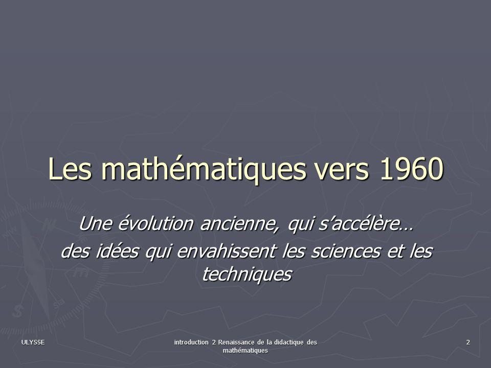 Les mathématiques vers 1960