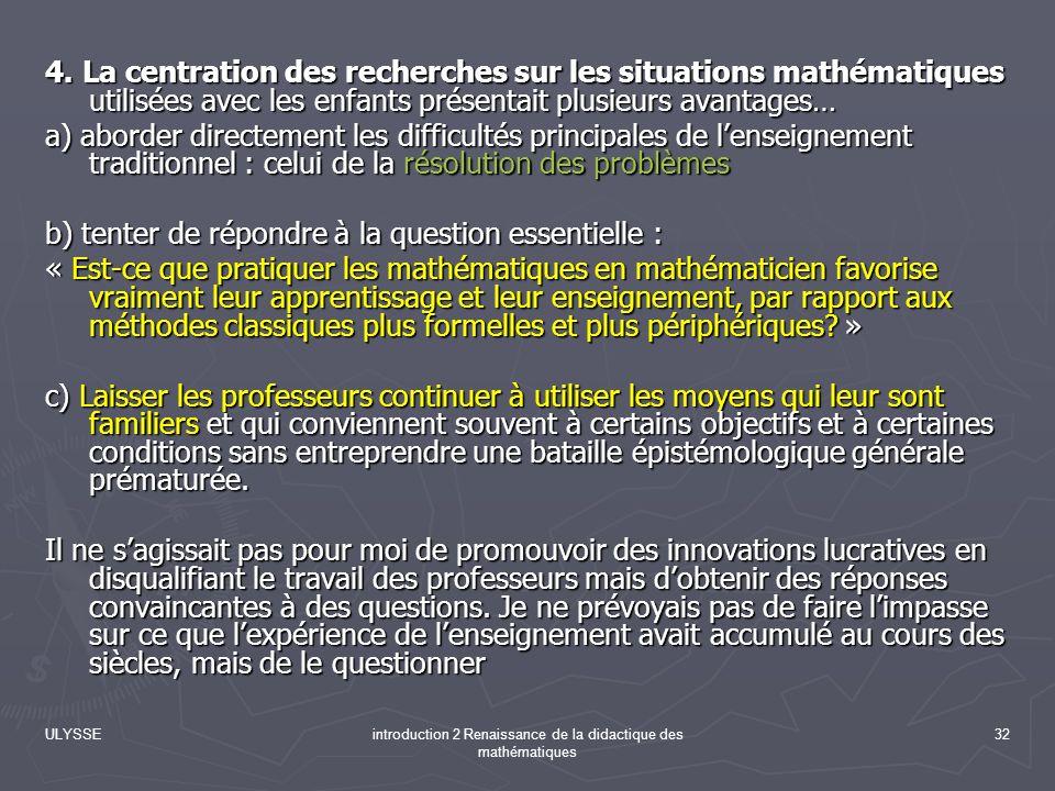 introduction 2 Renaissance de la didactique des mathématiques
