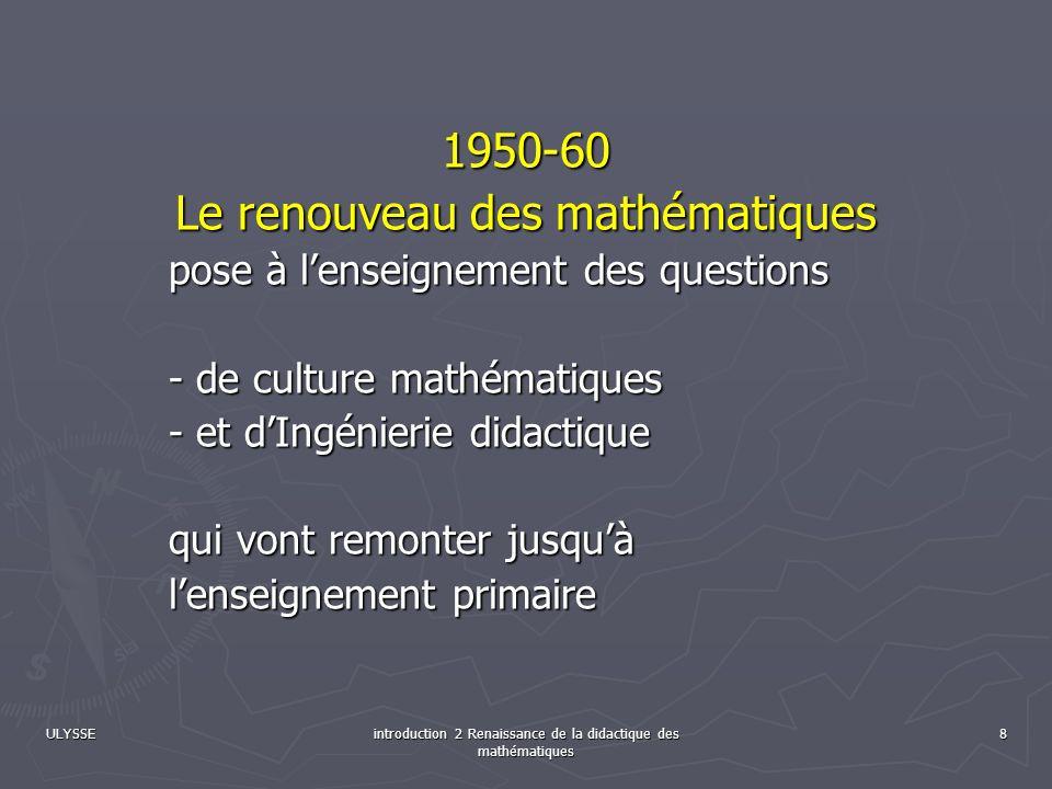 Le renouveau des mathématiques