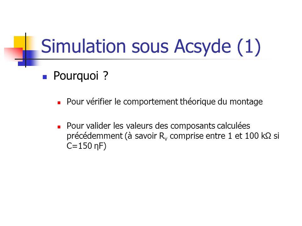 Simulation sous Acsyde (1)