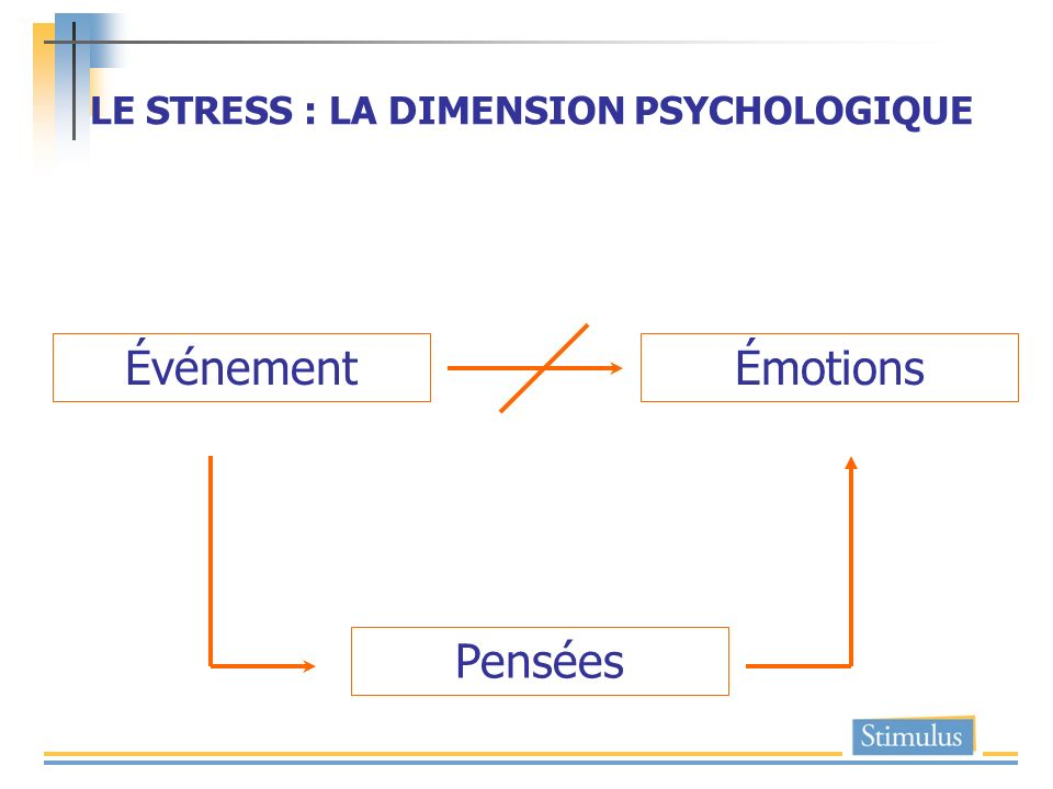 LE STRESS : LA DIMENSION PSYCHOLOGIQUE