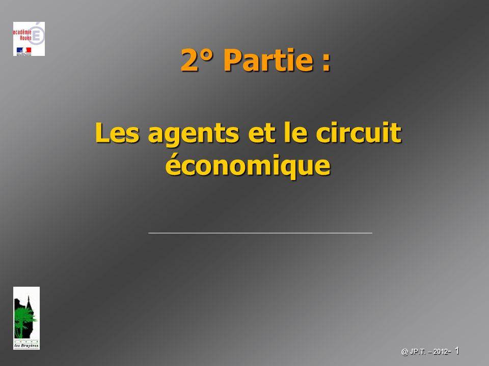 Les agents et le circuit économique