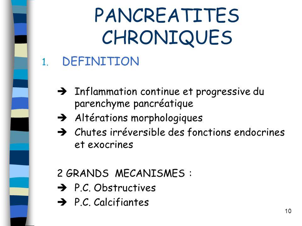 PANCREATITES CHRONIQUES