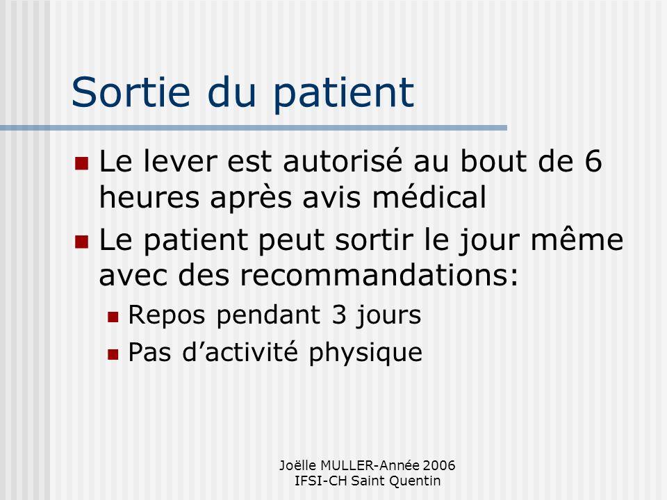 Joëlle MULLER-Année 2006 IFSI-CH Saint Quentin