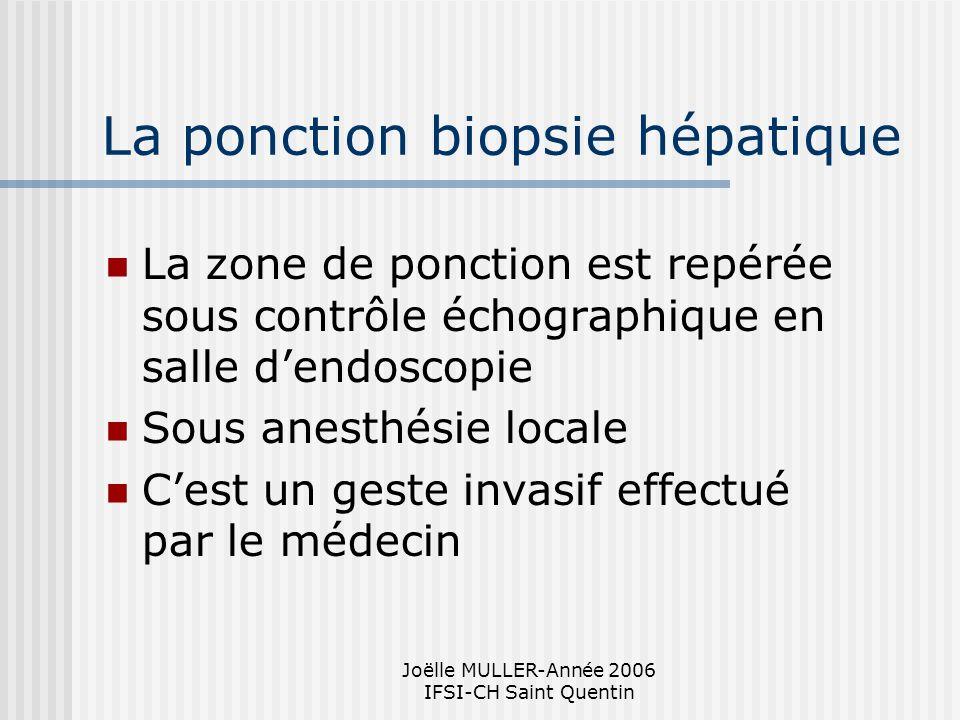 La ponction biopsie hépatique