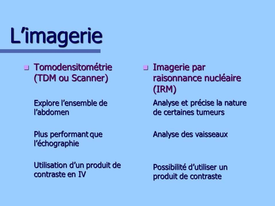 L'imagerie Tomodensitométrie (TDM ou Scanner)