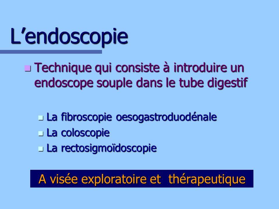 A visée exploratoire et thérapeutique