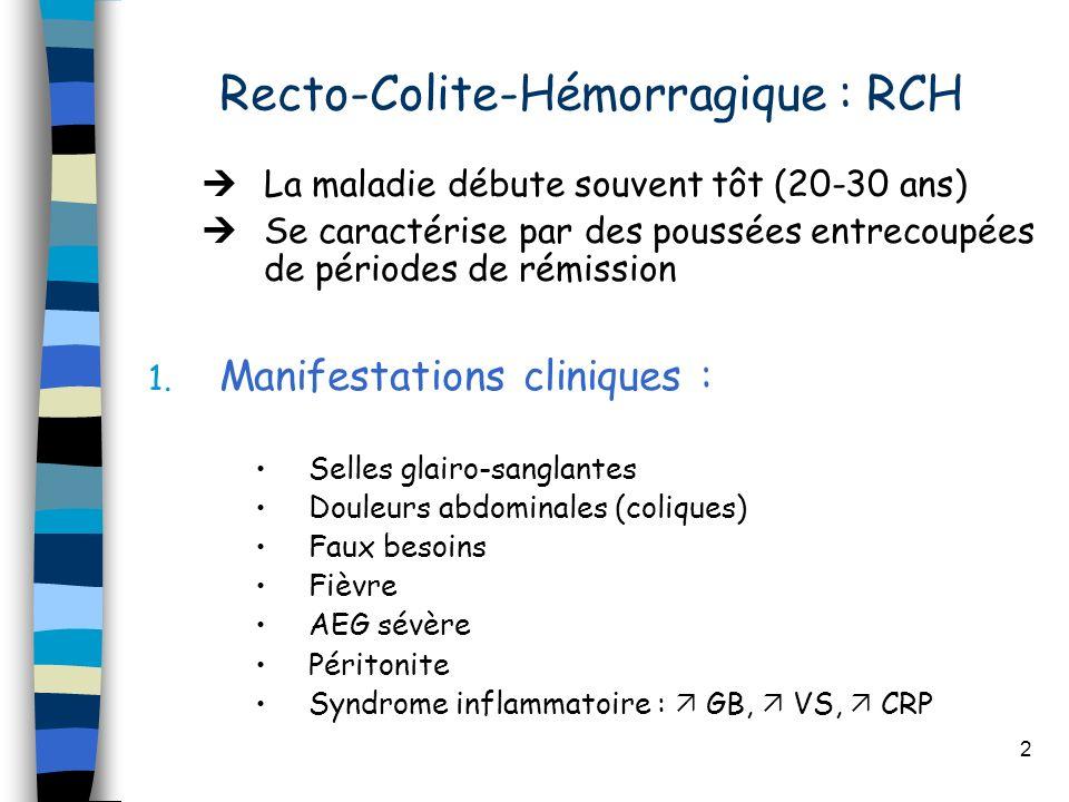 Recto-Colite-Hémorragique : RCH
