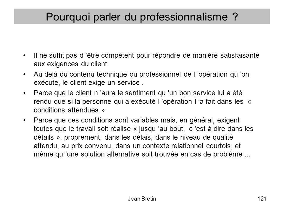 Pourquoi parler du professionnalisme