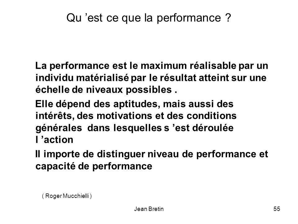 Qu 'est ce que la performance