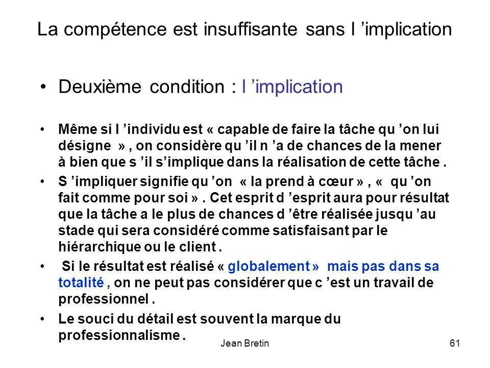 La compétence est insuffisante sans l 'implication