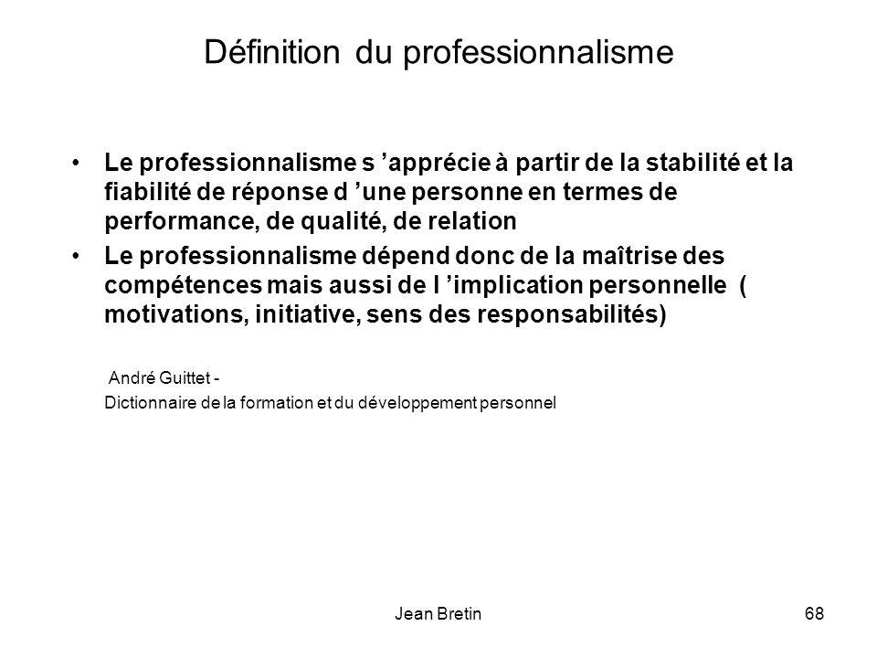Définition du professionnalisme