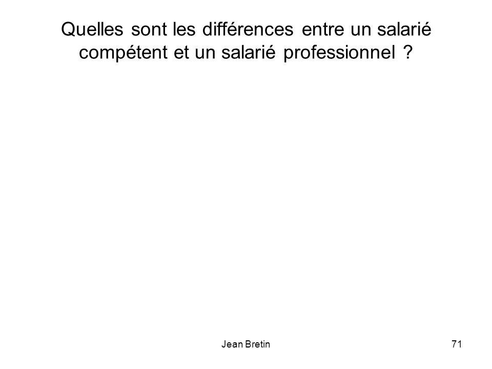 Quelles sont les différences entre un salarié compétent et un salarié professionnel