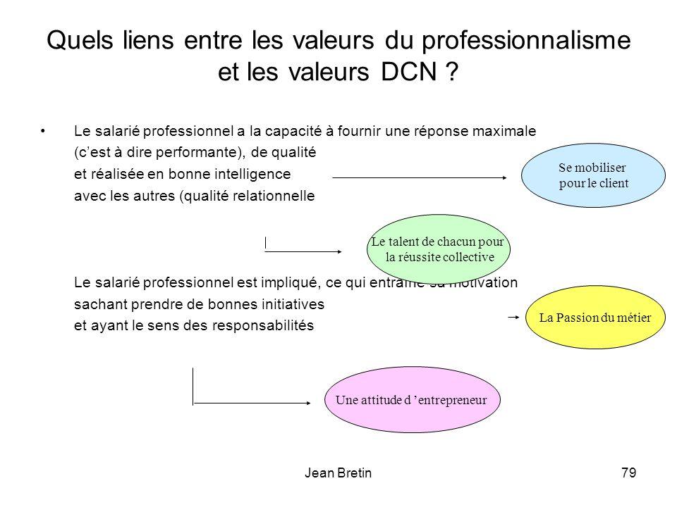 Quels liens entre les valeurs du professionnalisme et les valeurs DCN