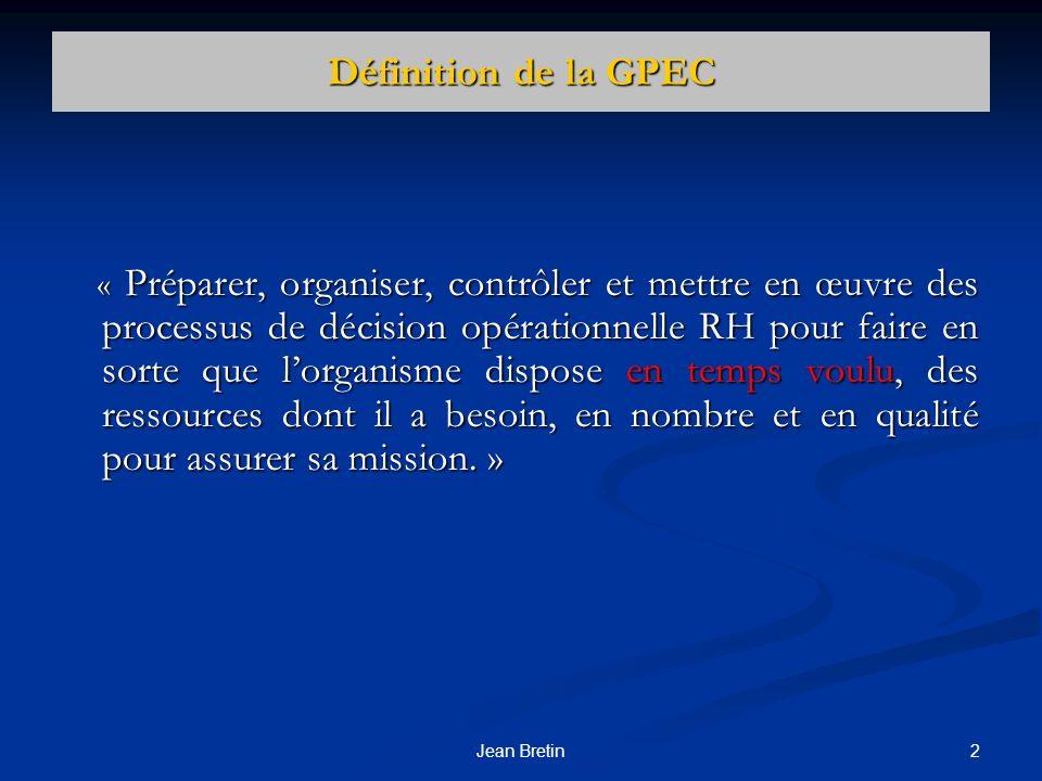 Définition de la GPEC
