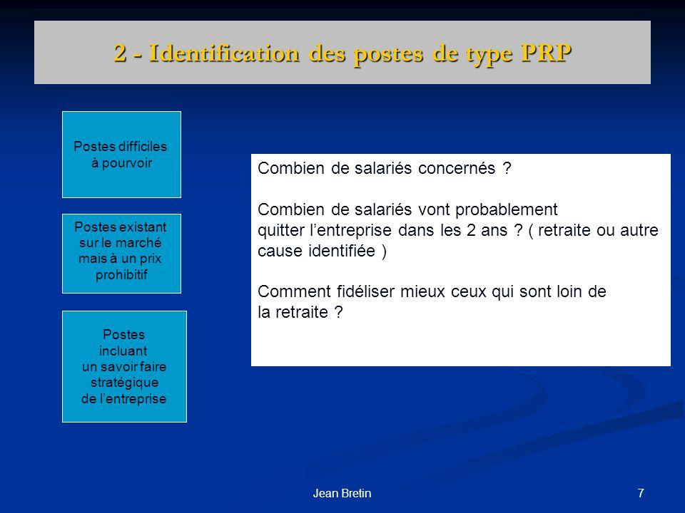 2 - Identification des postes de type PRP