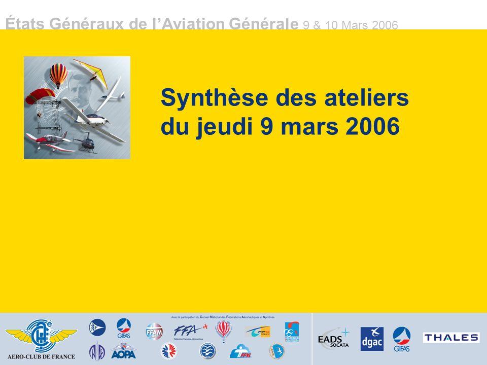 Synthèse des ateliers du jeudi 9 mars 2006