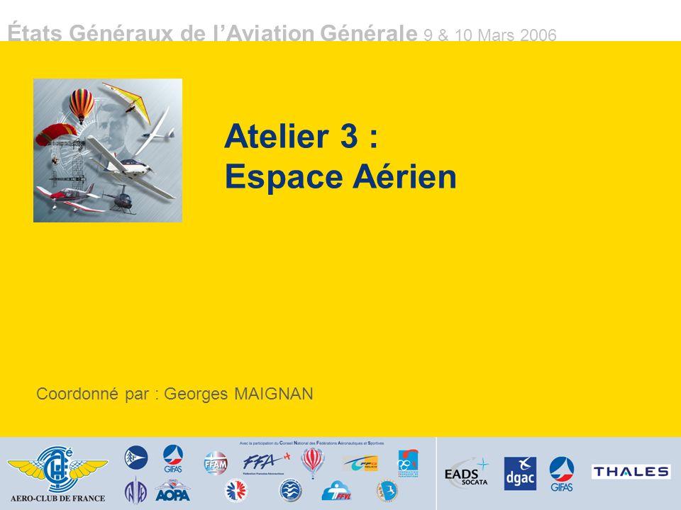 Atelier 3 : Espace Aérien
