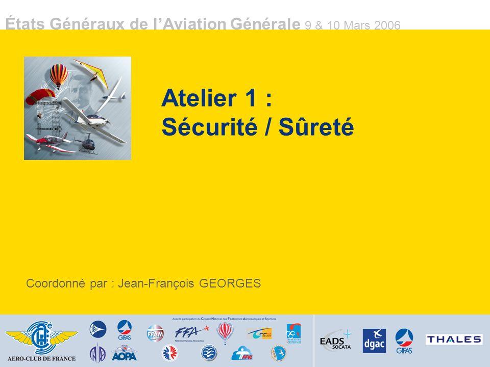 Atelier 1 : Sécurité / Sûreté