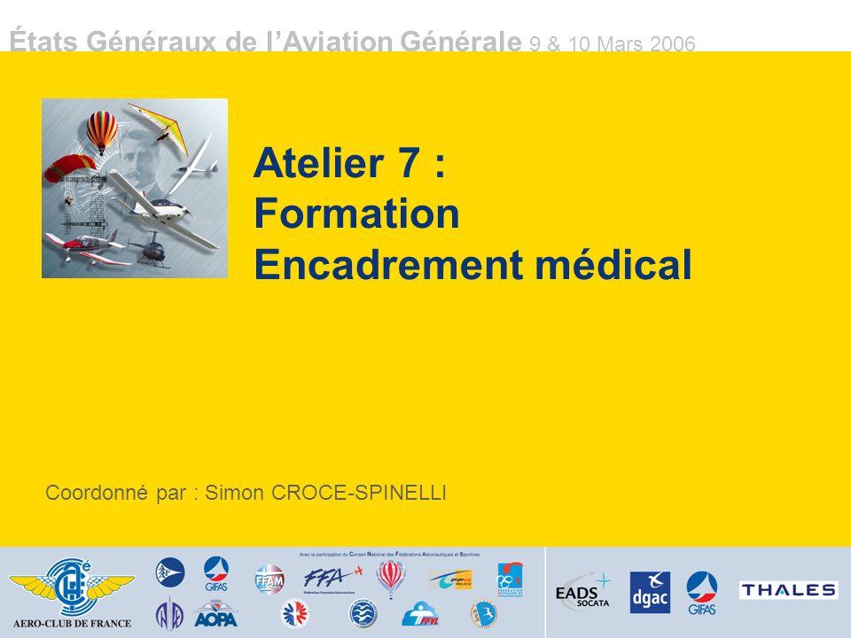 Atelier 7 : Formation Encadrement médical