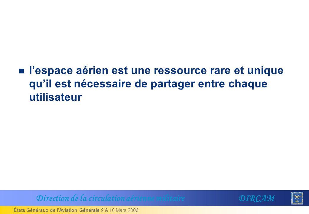 l'espace aérien est une ressource rare et unique qu'il est nécessaire de partager entre chaque utilisateur