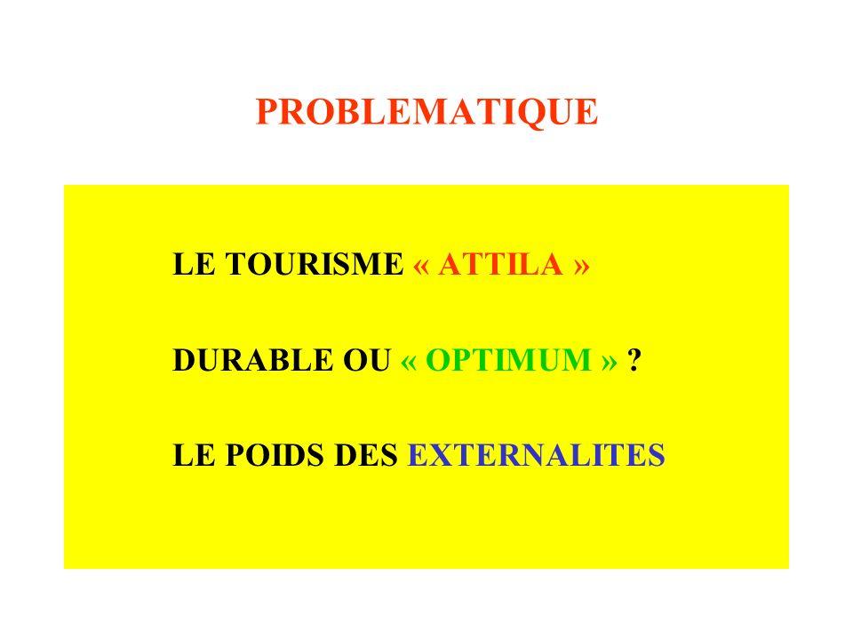 PROBLEMATIQUE LE TOURISME « ATTILA » DURABLE OU « OPTIMUM »