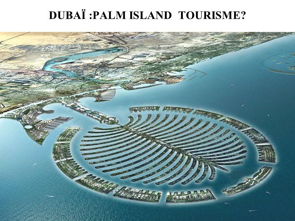 DUBAÏ :PALM ISLAND TOURISME