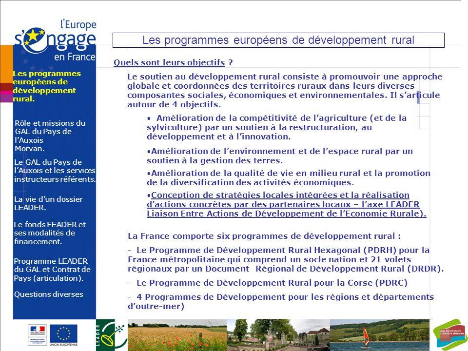 Les programmes européens de développement rural
