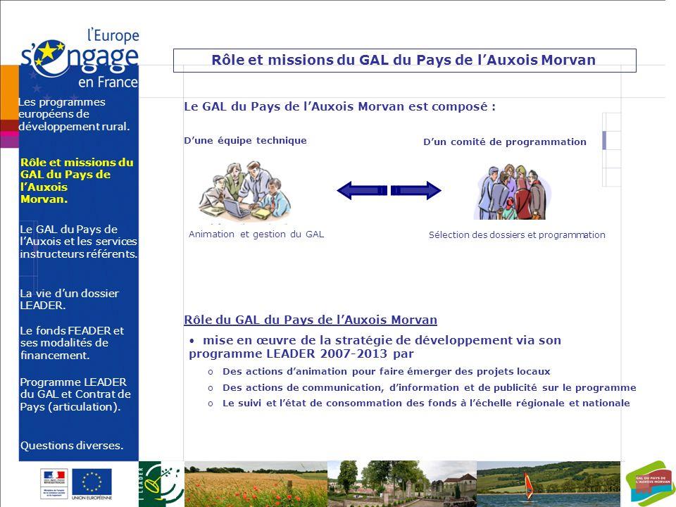Rôle et missions du GAL du Pays de l'Auxois Morvan