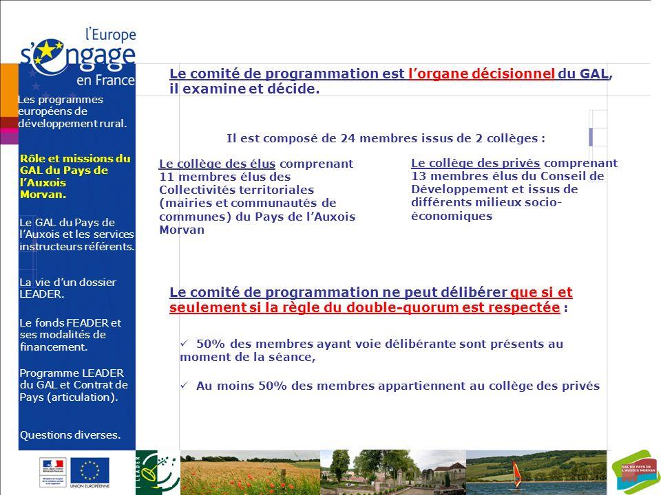 Le GAL du Pays de l'Auxois et les services instructeurs référents.
