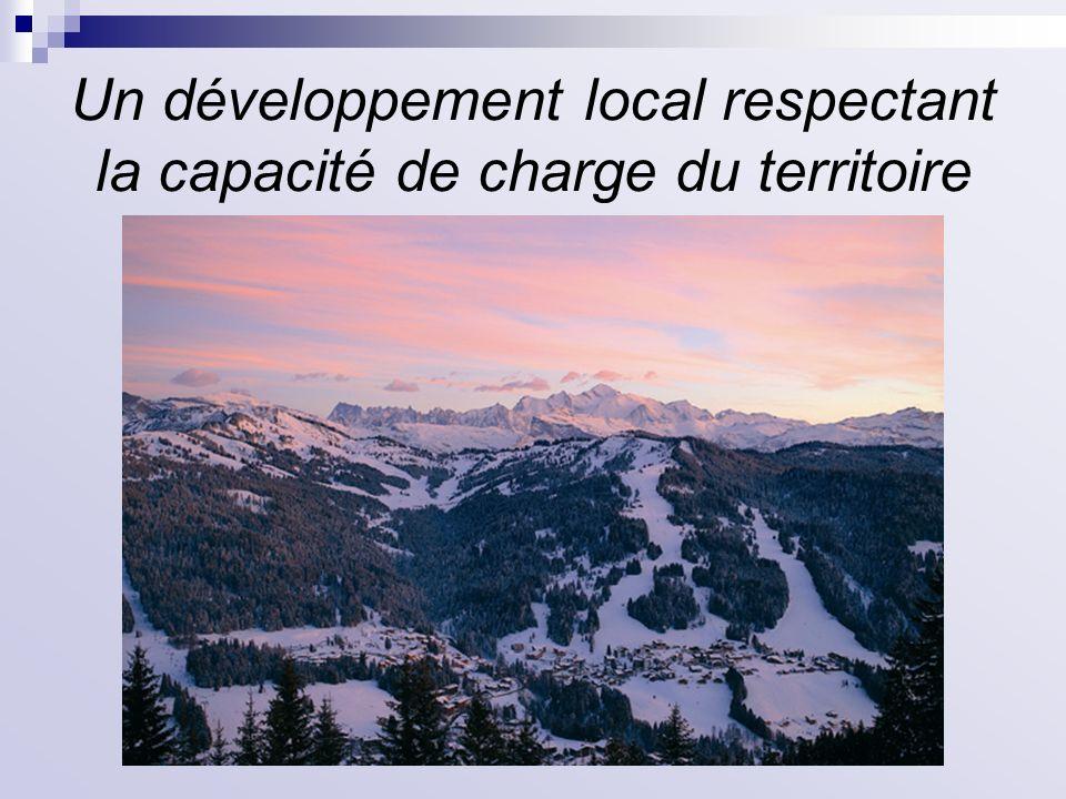 Un développement local respectant la capacité de charge du territoire