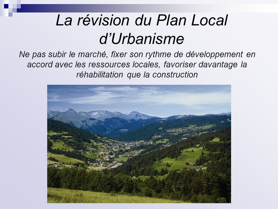 La révision du Plan Local d'Urbanisme