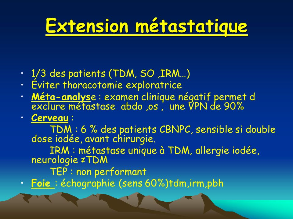 Extension métastatique