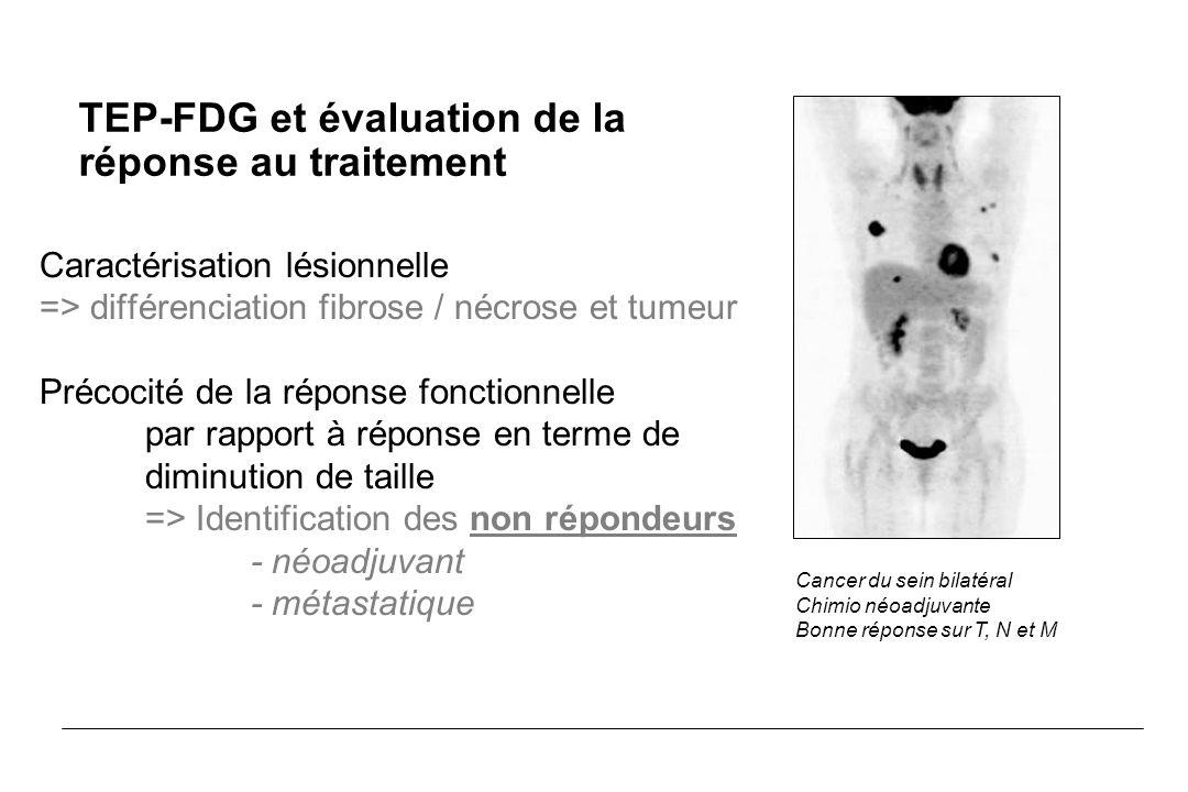 TEP-FDG et évaluation de la réponse au traitement