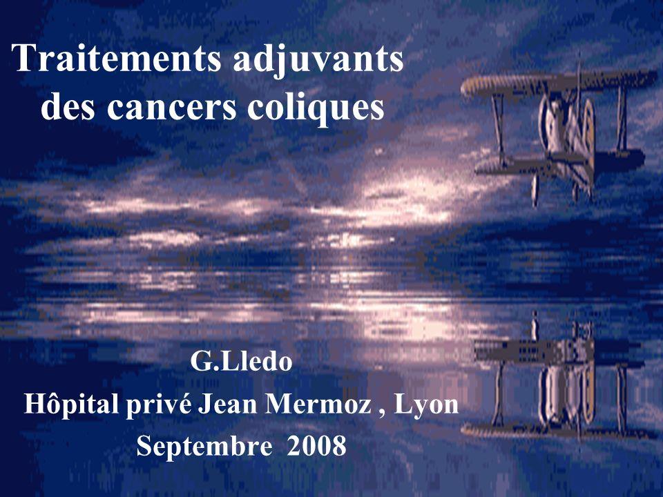 Traitements adjuvants des cancers coliques