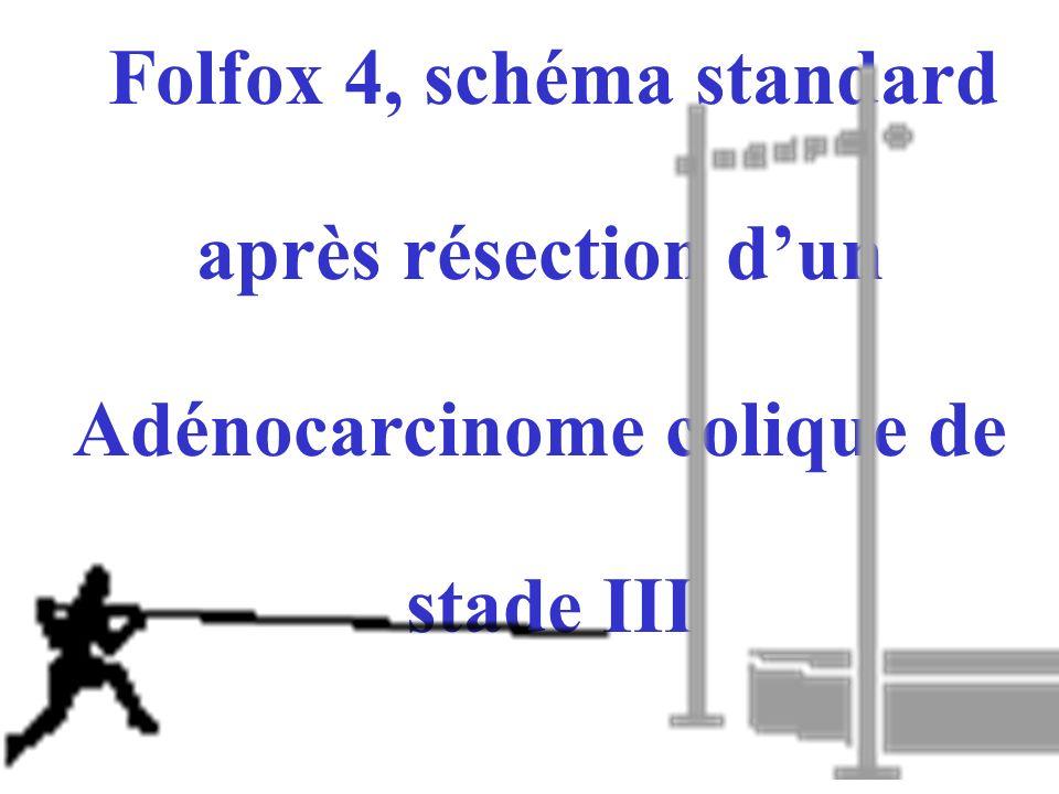 Folfox 4, schéma standard Adénocarcinome colique de