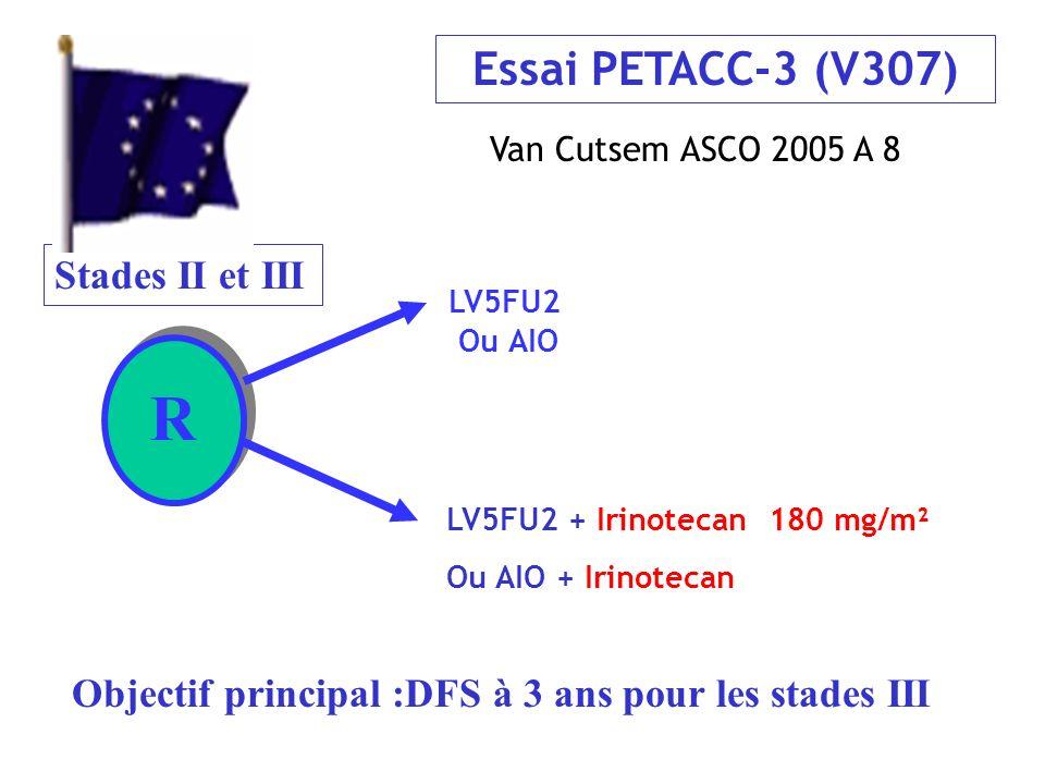 R Essai PETACC-3 (V307) Stades II et III