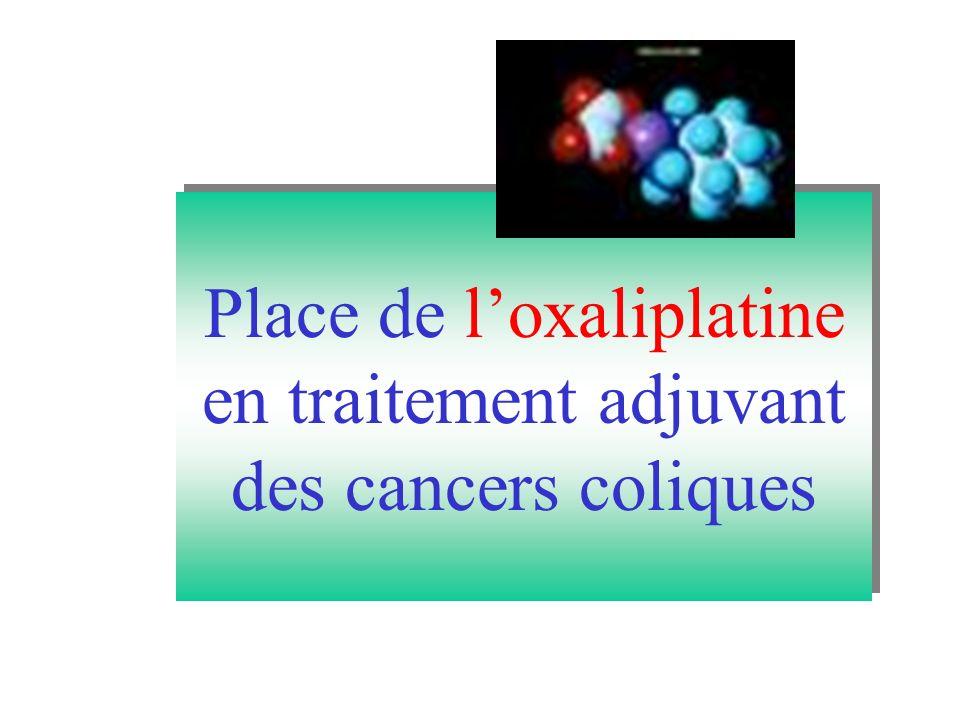 Place de l'oxaliplatine en traitement adjuvant des cancers coliques