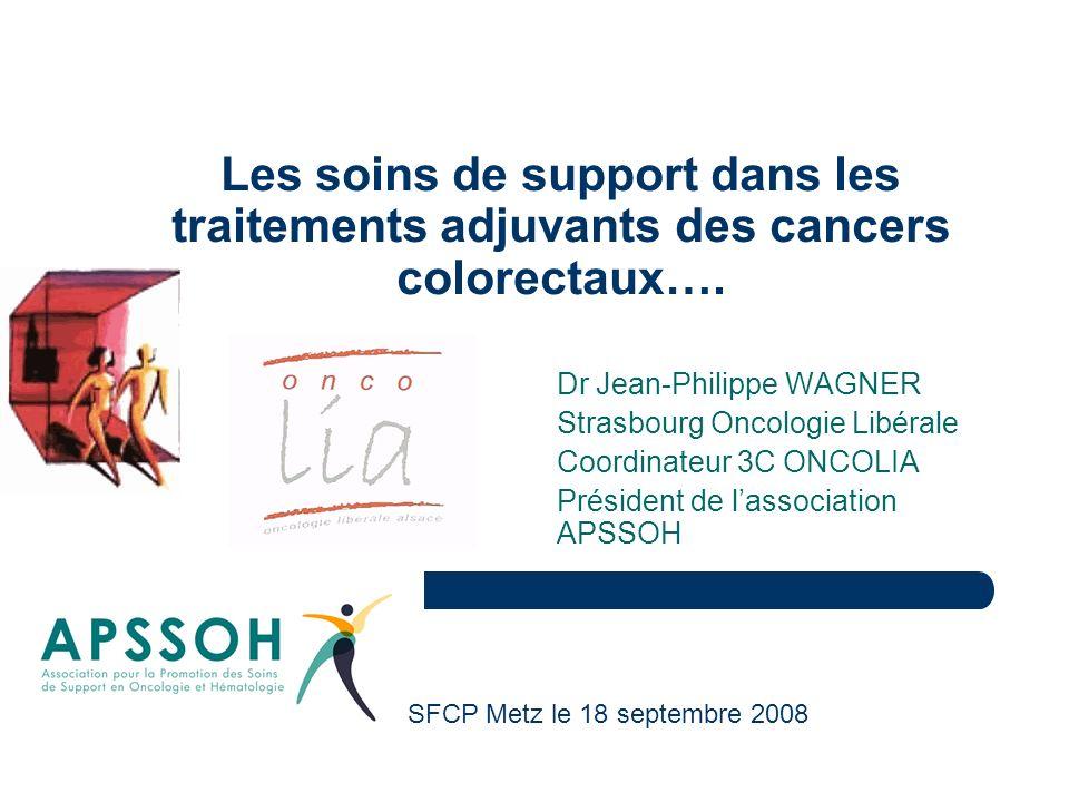 Les soins de support dans les traitements adjuvants des cancers colorectaux….
