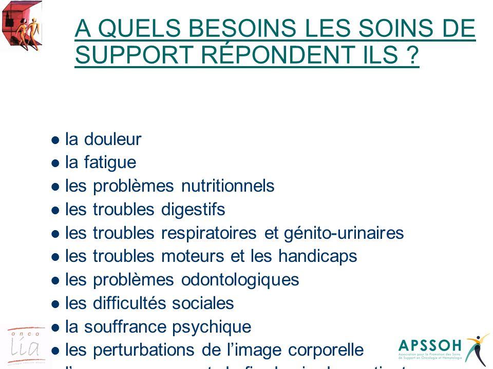 A QUELS BESOINS LES SOINS DE SUPPORT RÉPONDENT ILS