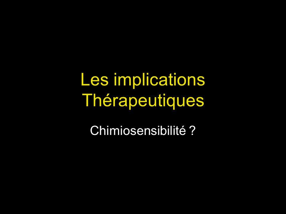 Les implications Thérapeutiques
