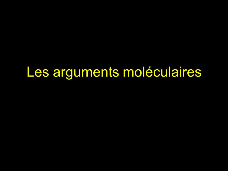 Les arguments moléculaires