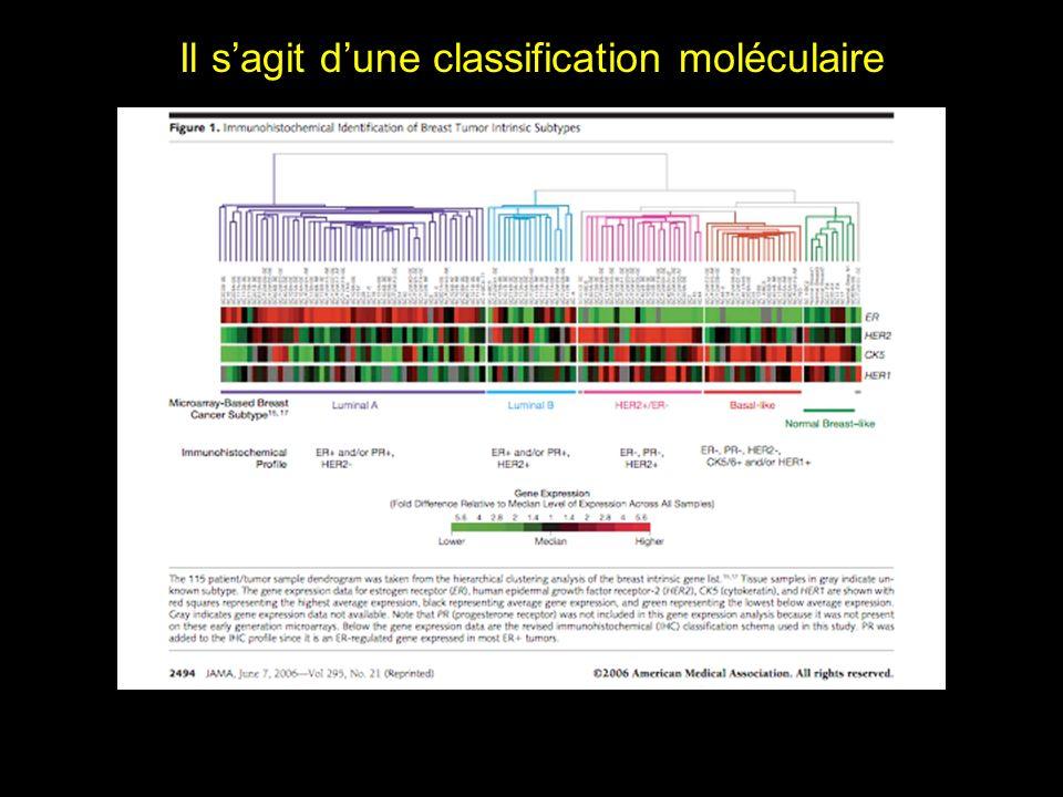 Il s'agit d'une classification moléculaire