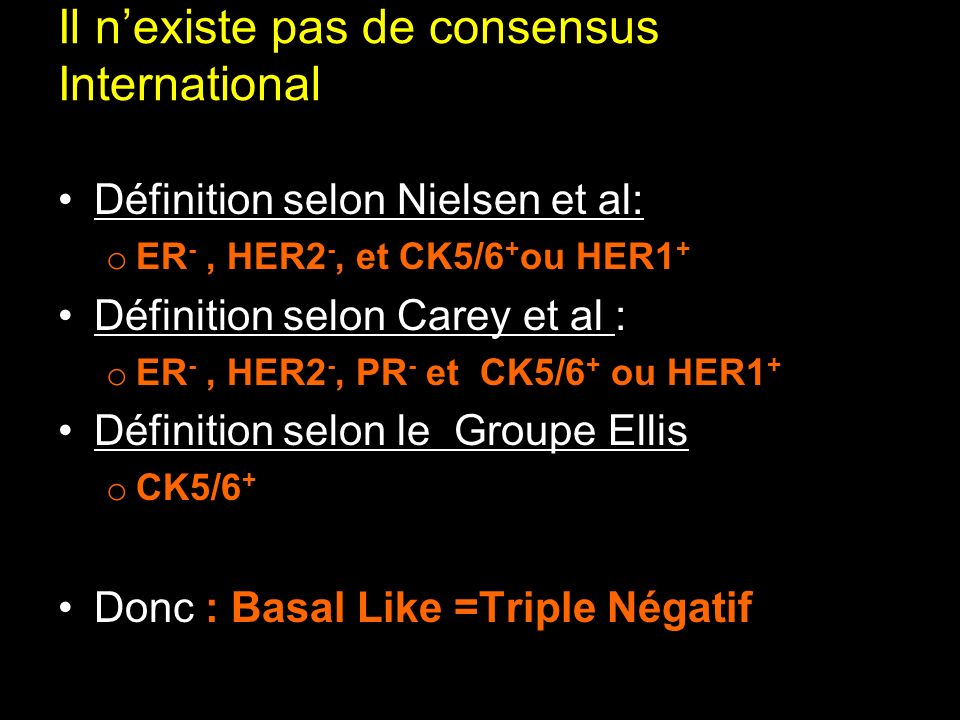 Il n'existe pas de consensus International