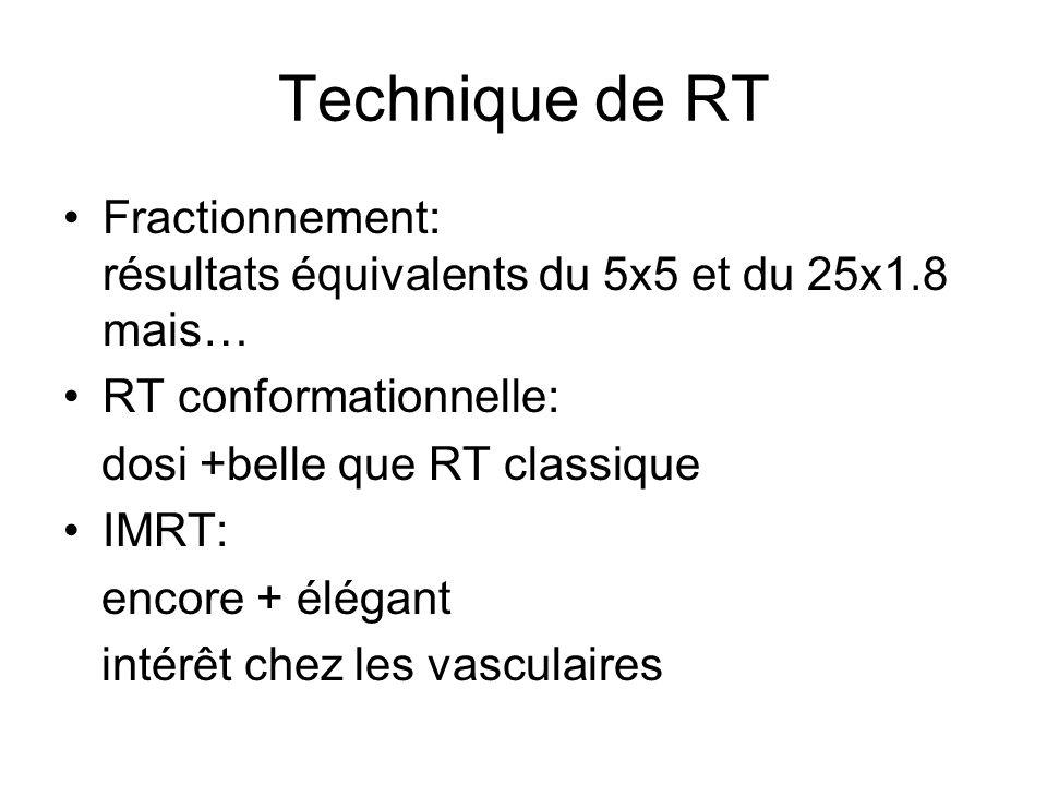 Technique de RT Fractionnement: résultats équivalents du 5x5 et du 25x1.8 mais…