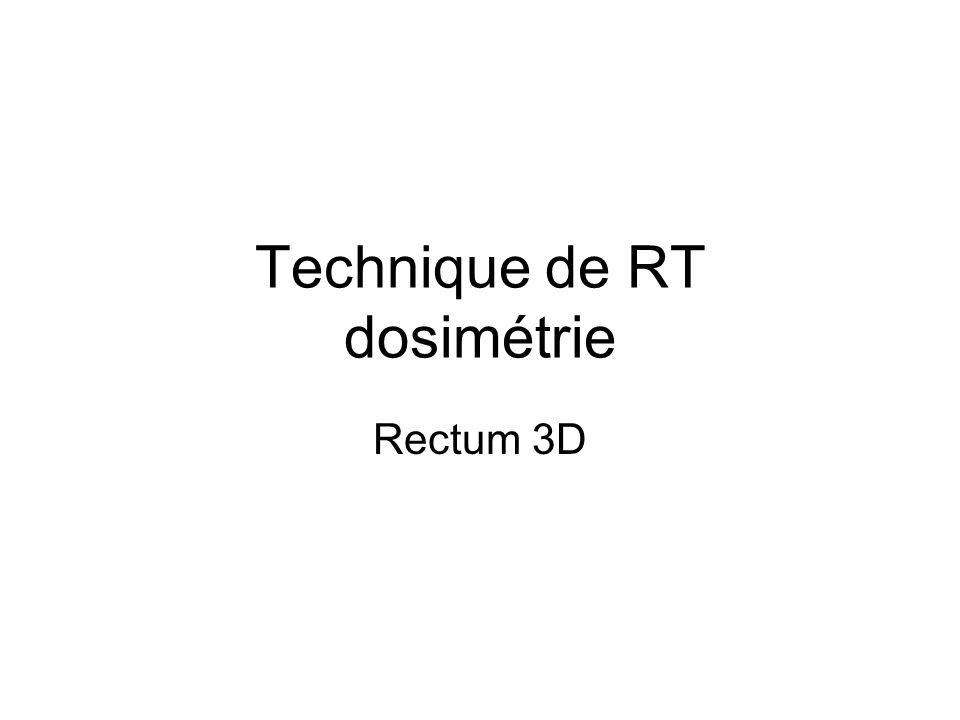 Technique de RT dosimétrie